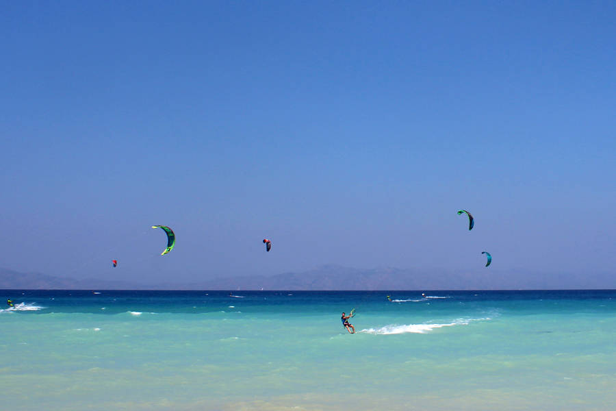 kitesurfing on Rhodos