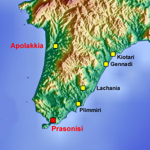 Rhodes map Apolakkia