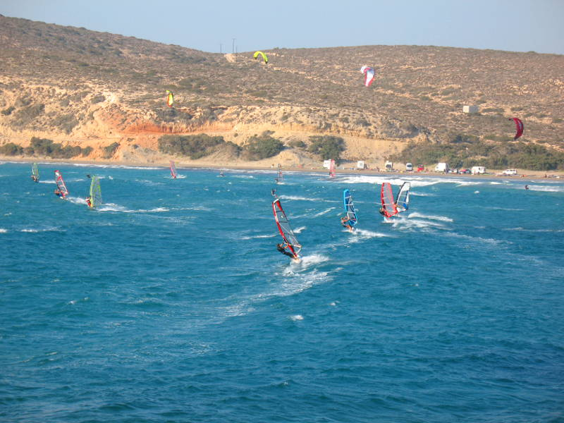 Prasonisi Windsurfen